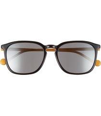 moncler 56mm square sunglasses - black/ yellow/ smoke mirror