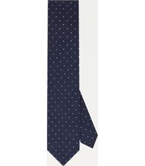 tommy hilfiger men's silk slim wid dot tie navy/white -