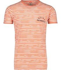 dstrezzed t-shirt oranje gestreept