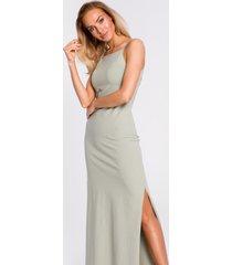sukienka bawełniana maxi na ramiączkach