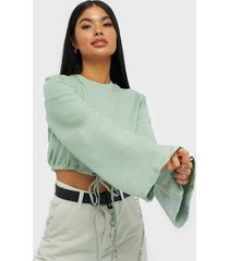 nly trend wide sleeve drawstring sweat sweatshirts