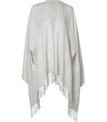 poncho le lis blanc fatima dust tricot off white feminino (dust, un)