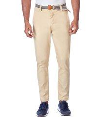 pantalon elastico carrot beige