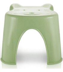 banquinho plástico infantil jacki design suporta até 45 kg verde - kanui