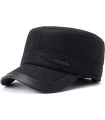berretto piatto invernale in cotone caldo per uomo inverno orecchio berretto piatto invernale per esterno sportivo vogue caldo