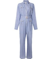 we are kindred vienna crochet boiler suit - blue