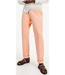 pantalon tapered chino summer twill fle naranjo tommy hilfiger