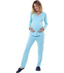 pijama gestante manga longa feminina luna cuore