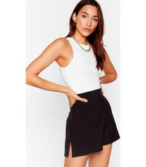 womens in a split second high-waisted shorts - black