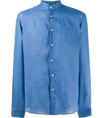 peninsula swimwear cala di volpe linen shirt - blue