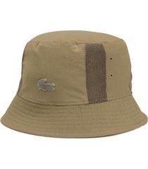 chapéu bucket lacoste motion bege - unissex