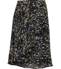 printed georgette knälång kjol multi/mönstrad ganni