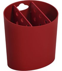 escorredor de talheres oval basic 13,8x10,5x14,4cm vermelho bold - 10840/0465 - coza - coza