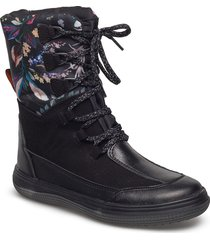 warm boot shoes boots ankle boots ankle boots flat heel svart ilse jacobsen