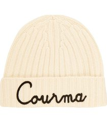 cashmere blend embroidered hat courma
