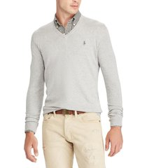 chaleco slim fit cotton v-neck gris polo ralph lauren