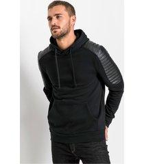 hoodie in bikerstijl, slim fit