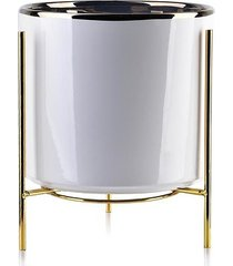 kwietnik metalowy osłonka ceramiczna bianca 20 cm