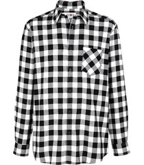 overhemd roger kent ecru::zwart