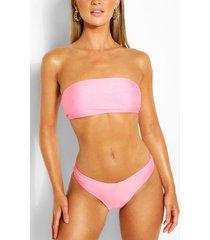 mix & match brazilian v front bikini brief, peach
