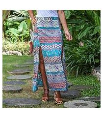 rayon maxi skirt, 'morning in paradise' (indonesia)