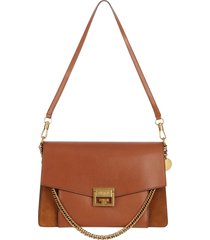 givenchy medium gv3 leather crossbody bag - brown