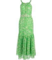 nicholas vestido com cinto e estampa paisley - verde