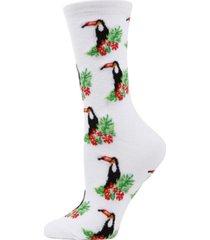 women's toucan bamboo blend crew socks