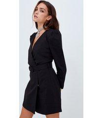 motivi vestito corto a tubino con cintura donna nero