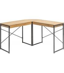 biurko narożne optic fornir dębowy 130cm