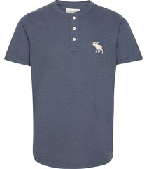 anf mens knits t-shirts short-sleeved blå abercrombie & fitch
