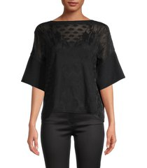 m missoni women's chevron open-knit top - black - size s