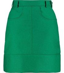 philosophy di lorenzo serafini wool mini skirt