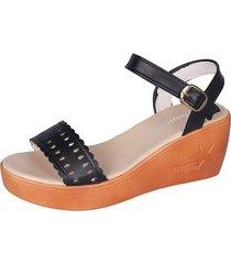 2019 mujeres sandalias cuñas zapatos plataforma hebilla correa sandalias de