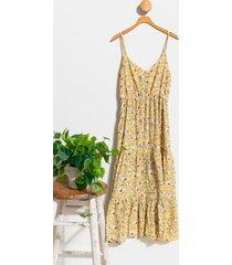 allie tiered maxi dress - mustard