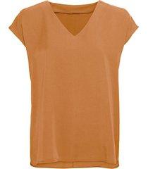 blouseshirt van tencel™ vezels met v-hals, kaneel 36