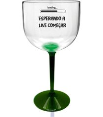2 taã§as gin transparente com base verde personalizada para live - incolor - dafiti
