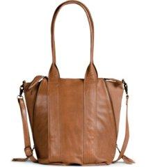day & mood halo leather satchel