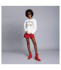 lez a lez - shorts cintura alta liso vermelho bulgaria