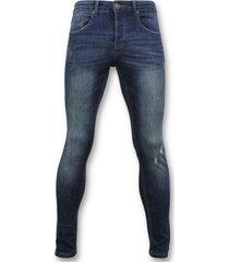 skinny jeans true rise skinny basic jeans - man spijkerbroek washed - d3021 -
