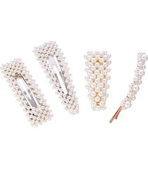 4-piece alice faux pearl hair clip set