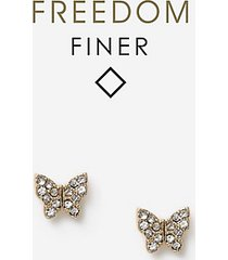 *pave butterfly stud earrings - clear