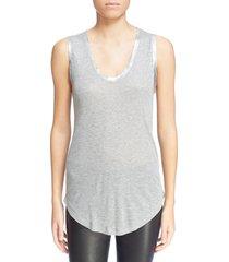 women's zadig & voltaire tam scoop neck tank, size x-small - grey