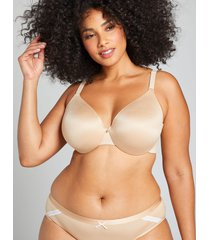 lane bryant women's invisible backsmoother lightly lined full coverage bra 50ddd cafe mocha