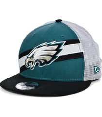new era philadelphia eagles diagonal trucker 9fifty cap