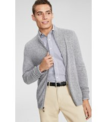 club room men's full-zip cashmere sweater, created for macy's