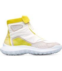 camper lab crclr, sneakers mujer, blanco/amarillo/beige, talla 41 (eu), k400380-001