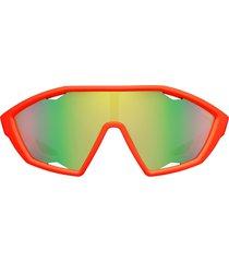 prada eyewear linea rossa active sunglasses - orange