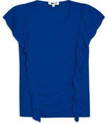 camiseta con arandela en frente color azul, talla 6