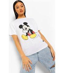 disney x boohoo mickey t-shirt, wit